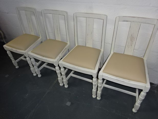 A set of Four 1940's Oak Chair's