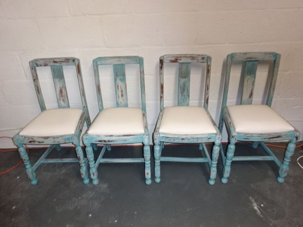 A set of 4 Oak 1940's Chair's