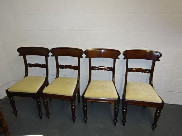 A set of 4 Mahogany Georgian Dining Chair's