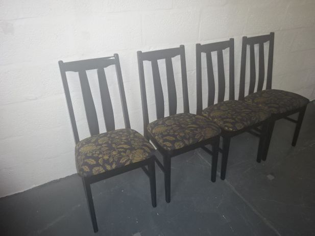 A set of four modern Ash Dining Chair's