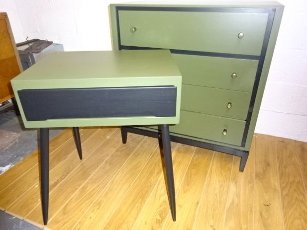 Retro Sewing Table/End Table with Drawer