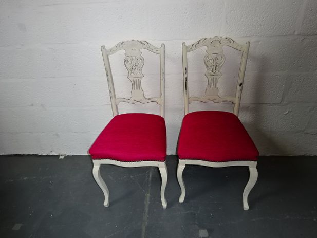 A pair of Carved Oak Chair's