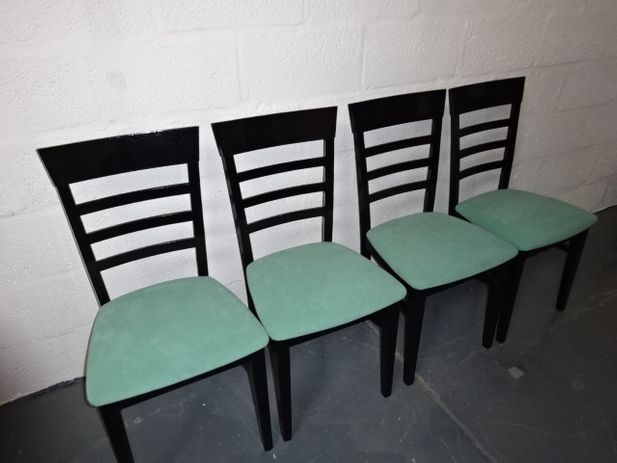 A set of four Beech Ladderback Chair's